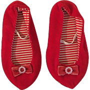 Red Chatty Cathy Shoes 1960s