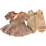 Floral Dress and Onesie for Composition Dolls 1930s