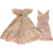 Dotted Swiss Dress for Composition Dolls 1930s