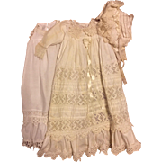 Three Piece Christening Gown for Bisque Baby Dolls