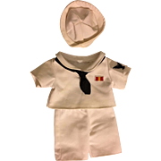 Three Piece Sailor Outfit for Bisque Dolls