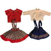Two Totsy Jumpers and Blouses for Hard Plastic and Composition Dolls 1950