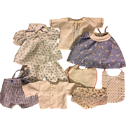 Eight Piece Layette for Dy-Dee Baby and Friends in Blues 1950s