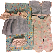 Five Piece Layette for Tiny Tears and Friends 1950s