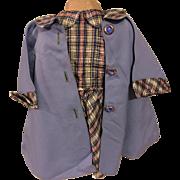 Plaid Taffeta Dress and Coat for Big Hard Plastic Dolls 1950s