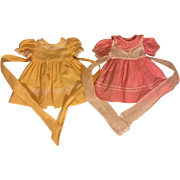 Two Dresses for Composition and Hard Plastic Dolls 1950
