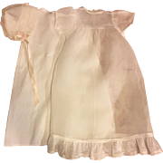 Three Piece Organdy Christening Gown for Large Bisque and Composition Baby Dolls 1930