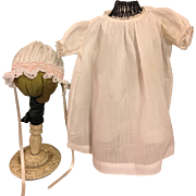 Gown, Slip, and Bonnet for Bisque and Composition Dolls 1930