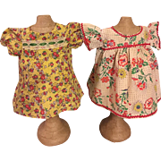 Two Sackcloth (Feedback) Dresses for Composition Dolls 1920
