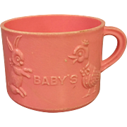Pink Baby Cup Prop for Big Baby Dolls 1950s