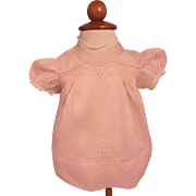 Pink Batiste Real Baby Dress and Slip 1940