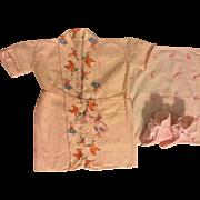 Blanket, Robe, Pink Eiderdown Booties for Dy-Dee Lou 1950