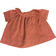 Red and White Gingham Dress, Hat, Underwear for Composition Toddlers such as Patsy Joan