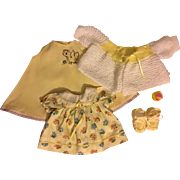 Six Piece Layette for Effanbee Dy-Dee Lou Baby 1950s