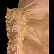 Beautiful Silk Baby Bonnet 1910