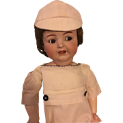 Romper and Hat for Chubby Bisque or Composition Dolls 1920