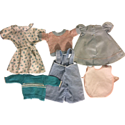 Six Piece Layette for American Character Tiny Tears 1950s