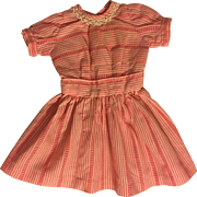 Pink and White Dress for Bisque Dolls