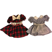 Two Dresses for Chubby Hard Plastic and Composition Dolls 1950s