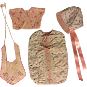 Bunting Bag and Bonnet Set for Dy-Dee baby and Friends 1950s