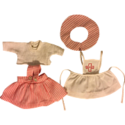 Four Piece Nurse Outfit for Tiny Tears and Friends 1950