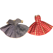 Two Dresses for Small Fashion Dolls 1950s