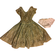 Lace Overlay Fashion Doll Dress 1950s