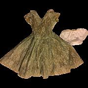 Lace Overlay Fashion Doll Dress 1950s