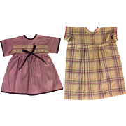 Two Dresses for Mama Type Dolls 1930s