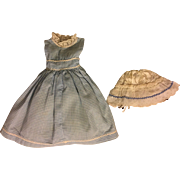 Blue and White Fashion Doll Dress and Girdle 1950s