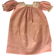 Antique Pink Doll Dress for Bisque