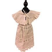 Antique White Capelet for French or German Dolls