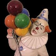 "Whimsical Royal Daulton ""Balloon Clown"" Figurine 1986 Retired"