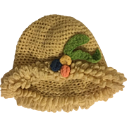 Crocheted Hat for Effanbee Patsy Ann and Friends 1930s