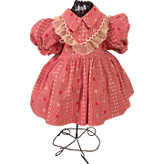 Red and White Dress and Underwear for Chubby Toddlers 1940