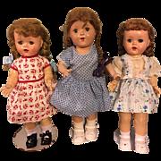 Three Doll Dresses For Hard Plastic Dolls 1950s