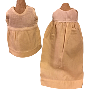 Two Antique Wool Doll Slips