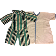 Two Piece Pajamas and Robe for Dy-Dee Lou Baby Doll and Friends 1950s