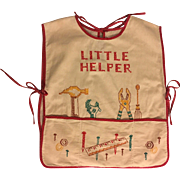 Embroidered Child's Apron