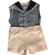 Vintage Two Piece Button-Together Boy's Outfit 1930