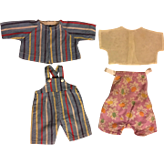 Overall Set, Sunsuit for Composition Dolls such as Kewpie 1940