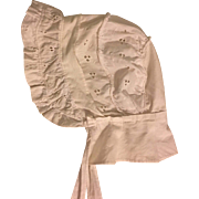 Eyelet Sunbonnet for Composition and Bisque Dolls