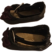 Original Black Leatherette Madame Alexander Shoes 1950s