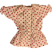 Red and White Dropped Waist Dress for Bisque