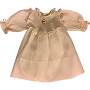 White Eyelet and Cotton Dress for Bisque Dolls