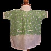 Folk Print Dress for Very Large Mama Dolls 1920