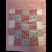 Old Patchwork Blanket For Baby Dolls