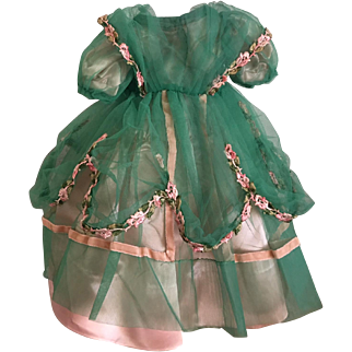 Tulle and Satin Princess Dress For Hard Plastic and Composition