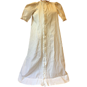 Antique Christening Gown and Bonnet for Bisque Baby Dolls 1900