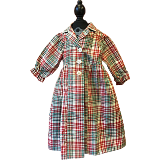 Madras Dress for Large Dolls 1940